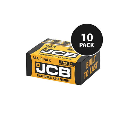 JCB Super Alkaline Industrial AAA Batteries - 10 Pack