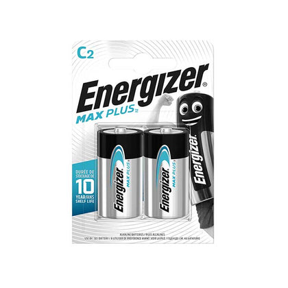 Energizer Max Plus C Batteries - 2 Pack