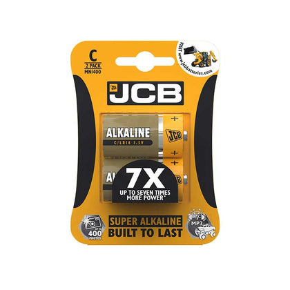 JCB Super Alkaline C Batteries - 2 Pack