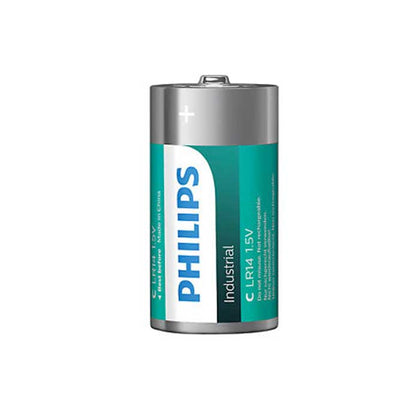 Philips Alkaline Industrial C Batteries - 10 Pack