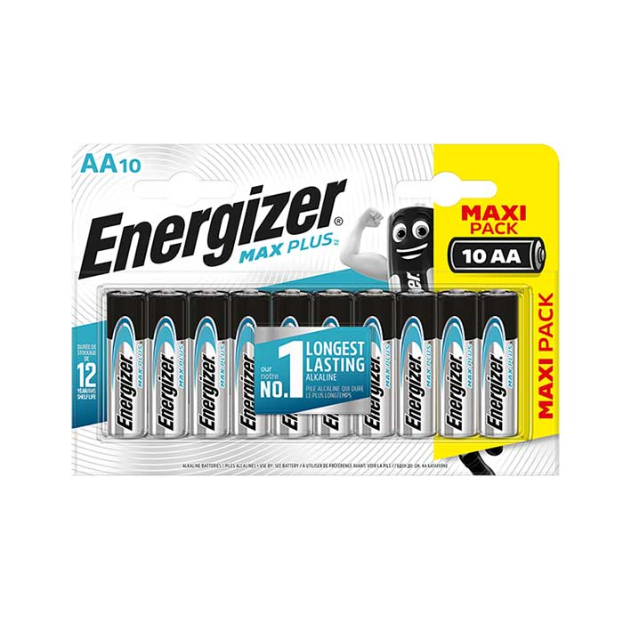 Energizer Max Plus AA Batteries - 10 Pack