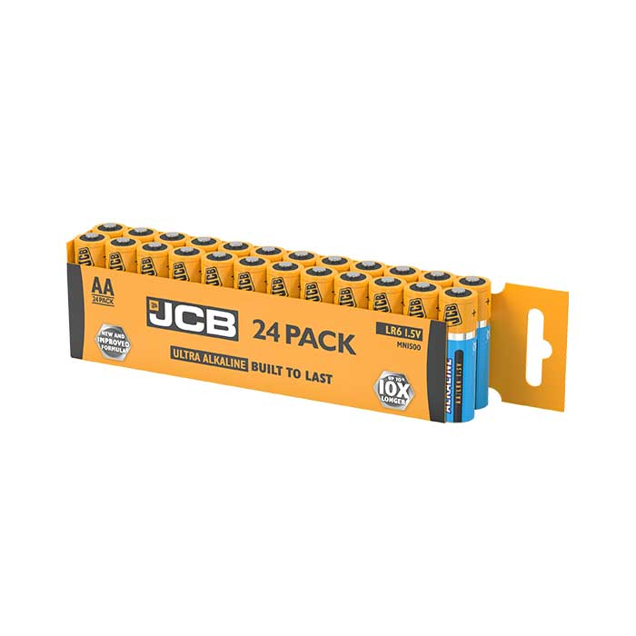 JCB Ultra Alkaline AA Batteries - 24 Pack