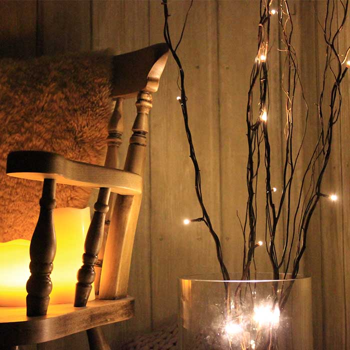 Decorative Pre-Lit Branch Light - Black - 80 LEDs