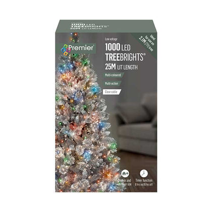 TreeBright Lights (Timer) - 25M - Multifunction - Multicolour - 1000 LEDs