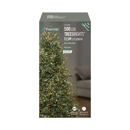 TreeBright Lights (Timer) - 12.5M - Multifunction - Warm White & White - 500 LEDs