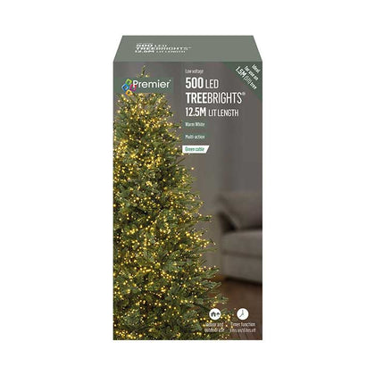 TreeBright Lights (Timer) - 12.5M - Multifunction - Warm White - 500 LEDs