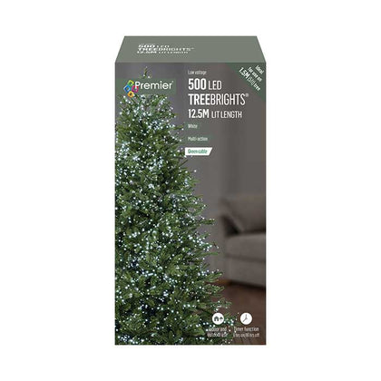 TreeBright Lights (Timer) - 12.5M - Multifunction - White - 500 LEDs