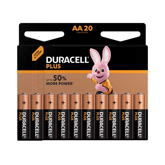 Duracell Plus Power AA Batteries - 20 Pack