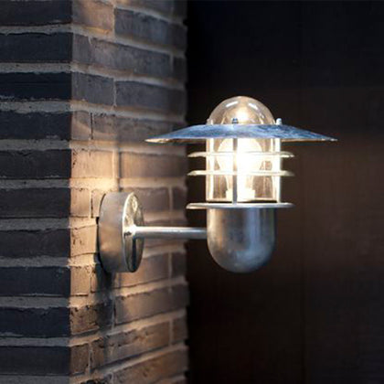 Nordlux Agger Outdoor Wall Light Fixture - Galvanized