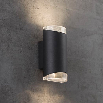 Nordlux Arn Outdoor 2-Light Wall Light Fixture - Black