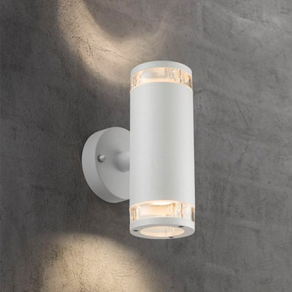 Nordlux Birk Outdoor 2-Light Wall Light Fixture - White