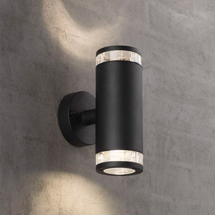 Nordlux Birk Outdoor 2-Light Wall Light Fixture - Black