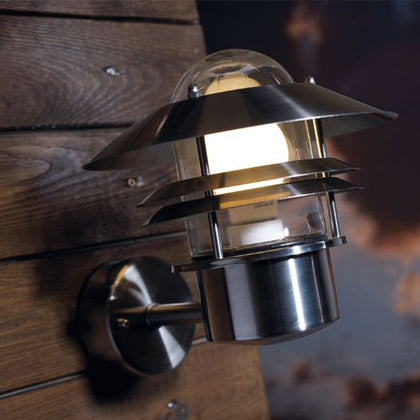Nordlux Blokhus Outdoor Wall Light Fixture - Stainless Steel