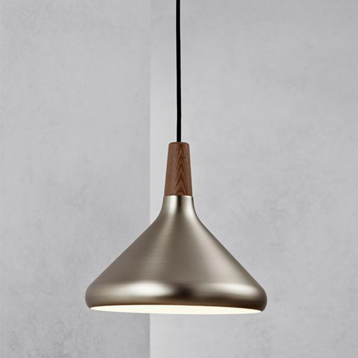 DFTP Float27 Pendant Light Fixture - Brushed Steel