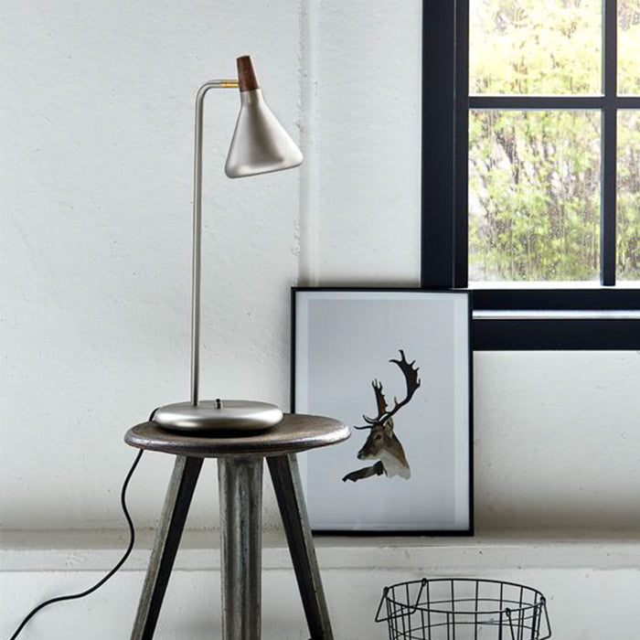 DFTP Float Table Lamp Fixture - Brushed Steel