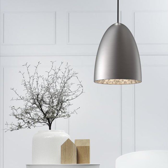 DFTP Nexus20 Pendant Light Fixture - Brushed Steel