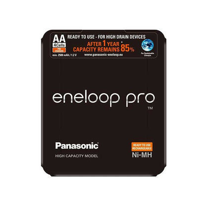 Panasonic Eneloop Pro AAA 930mAh Batteries - Slider Pack of 4
