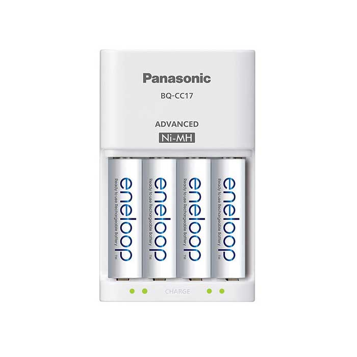 Panasonic Eneloop Smart-Quick Charger (BQ-CC55) with 4xAA 1900mAh