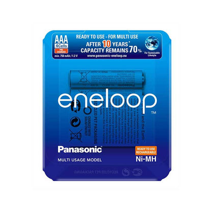 Panasonic Eneloop AAA 750mAh Batteries - Slider Pack of 4