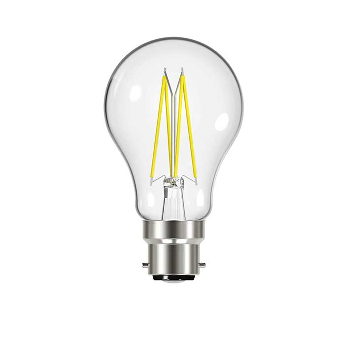Energizer 7.2W B22 GLS Filament LED - 806lm - 2700K - Clear - Dimmable