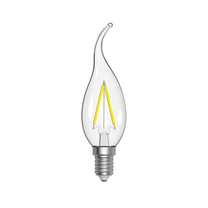 Energizer 2.4W E14 Flame Tip Filament LED - 250lm - 2700K - Clear - Non Dimmable