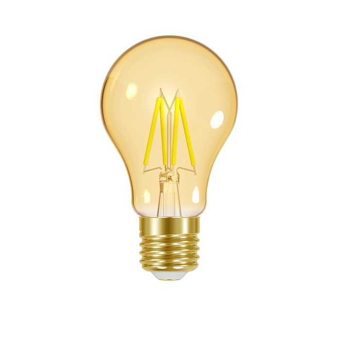 Energizer 4.2W E27 GLS Filament LED - 310lm - 2200K - Gold - Non Dimmable