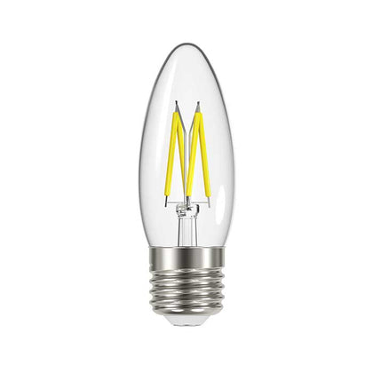 Energizer 4W E27 Candle Filament LED - 470lm - 2700K - Clear - Non Dimmable