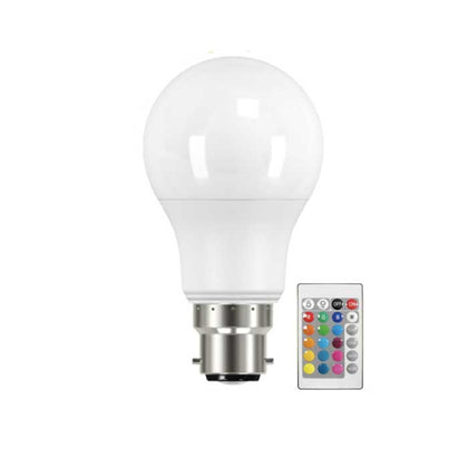 Energizer 9W B22 GLS LED - 60W Replacement - 806lm - RGB+W - Dimmable