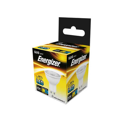 Energizer 5W GU10 LED - 50W Replacement - 350lm - 3000K - Non Dimmable