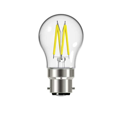 Energizer 4.2W B22 Golf Filament LED - 470lm - 2700K - Clear - Non Dimmable