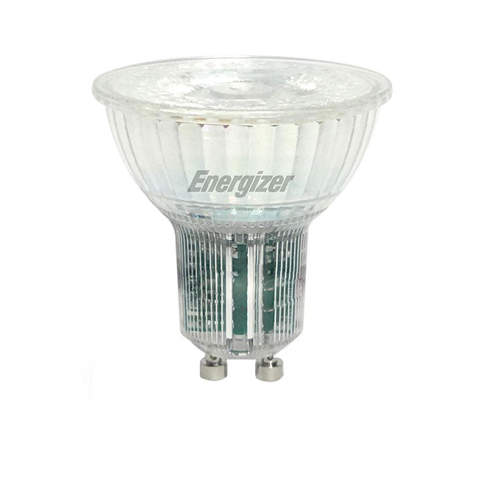 Energizer 5.5W Glass GU10 LED - 50W Replacement - 360lm - 4000K - Dimmable