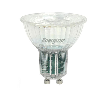 Energizer 5.5W Glass GU10 LED - 50W Replacement - 345lm - 3000K - Dimmable