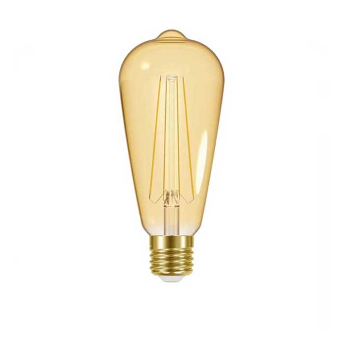 Energizer 5W E27 Tear Drop Filament LED - 470lm - 2200K - Amber - Non Dimmable