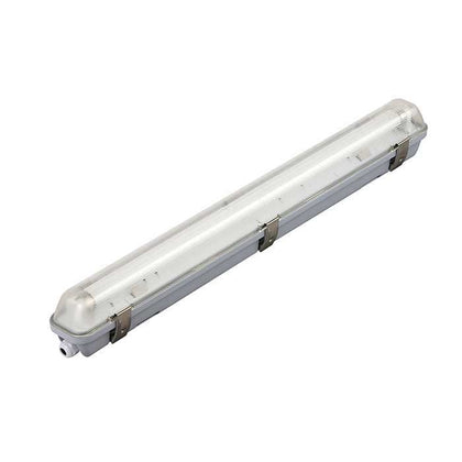 Tube Light Fitting - 2ft (600mm) - PC Body & Diffuser - Single
