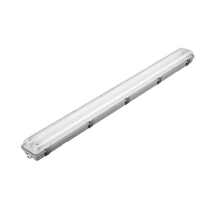 Tube Light Fitting - 4ft (1200mm) - PC Body & Diffuser - Twin