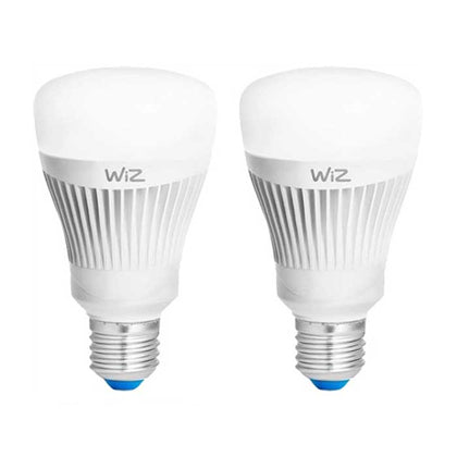 WiZ 11.5W E27 GLS Smart LED - Colours - 2 Pack - Starter Pack