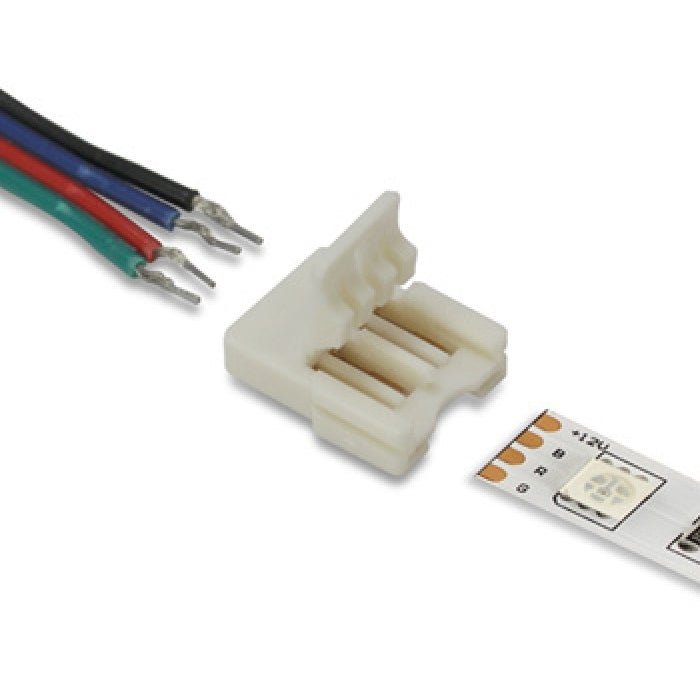 LED Strip Light Connectors - Single Ended - 10mm (RGB) - 3 Pack