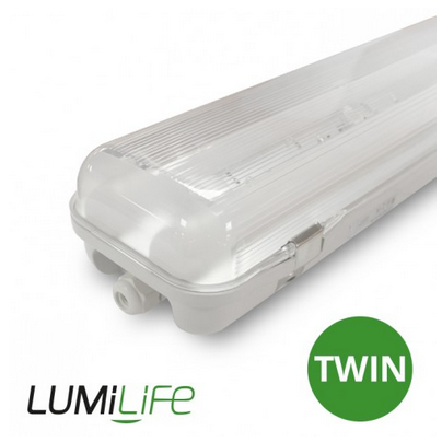 24W Twin 1200mm IP65 LED Non-Corrosive Tri-Proof + Emergency