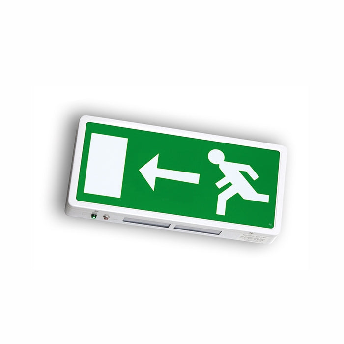 Running Man Legend For Surface Mounted Exit Sign - Left