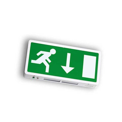 Running Man Legend For Surface Mounted Exit Sign - Down