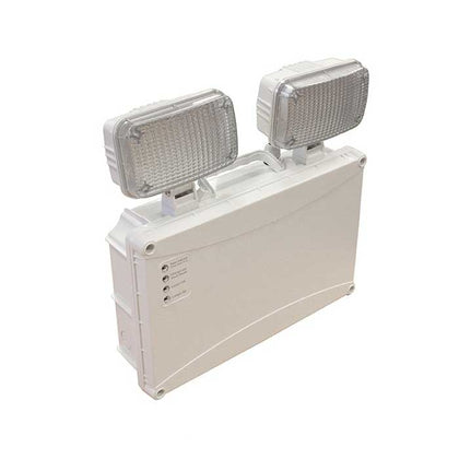 2x 3W Twin-Spot LED Emergency Light - Non-Maintained