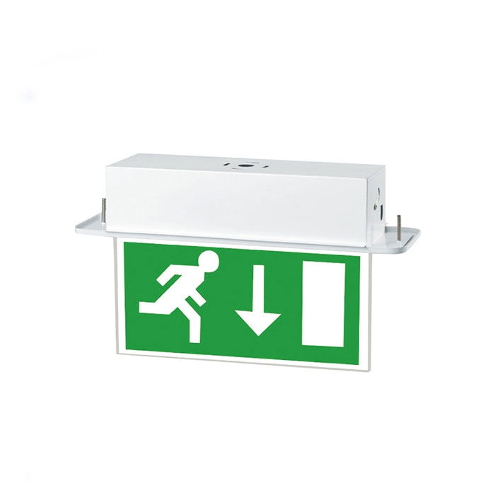 4W Recessed LED Emergency Exit Sign - Maintained