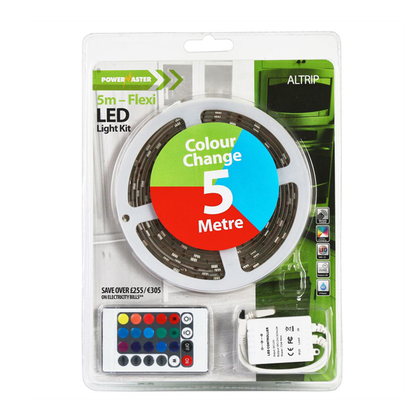 Powermaster LED 5M Flexi Strip Light (Multi-colour)