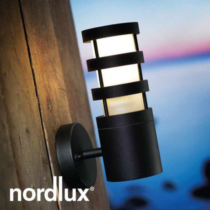 Nordlux Darwin Outdoor Wall Light Fixture - Black