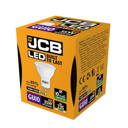 JCB LED GU10 3W Spotlight - Warm White
