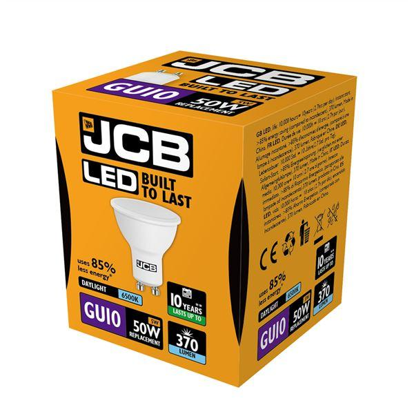 JCB 5W GU10 LED - 50W Replacement - 370lm - 6500K - Non Dimmable