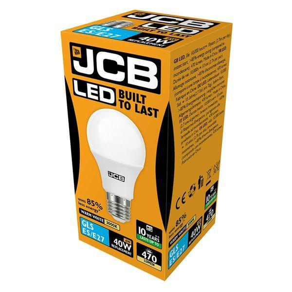 JCB 6W E27 GLS LED - 40W Replacement - 470lm - 3000K - Non Dimmable