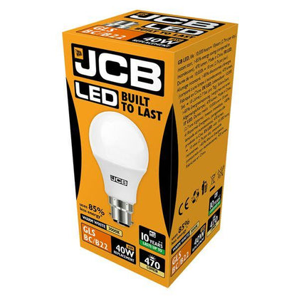 JCB LED B22 6W Light Bulb - Warm White