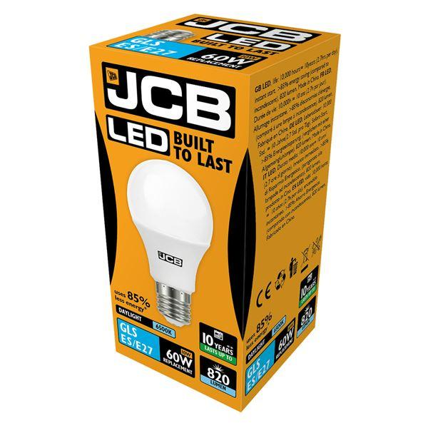 JCB 10W E27 GLS LED - 60W Replacement - 820lm - 6500K - Non Dimmable