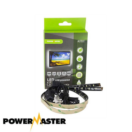PowerMaster LED USB Powered TV Backlight - 2x 0.5M - Cool White